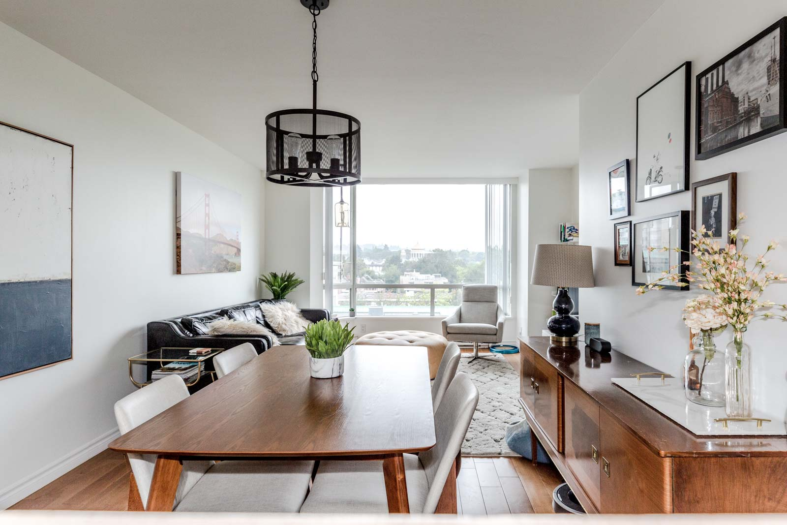View from the kitchen at Vancouver condo in Fairview