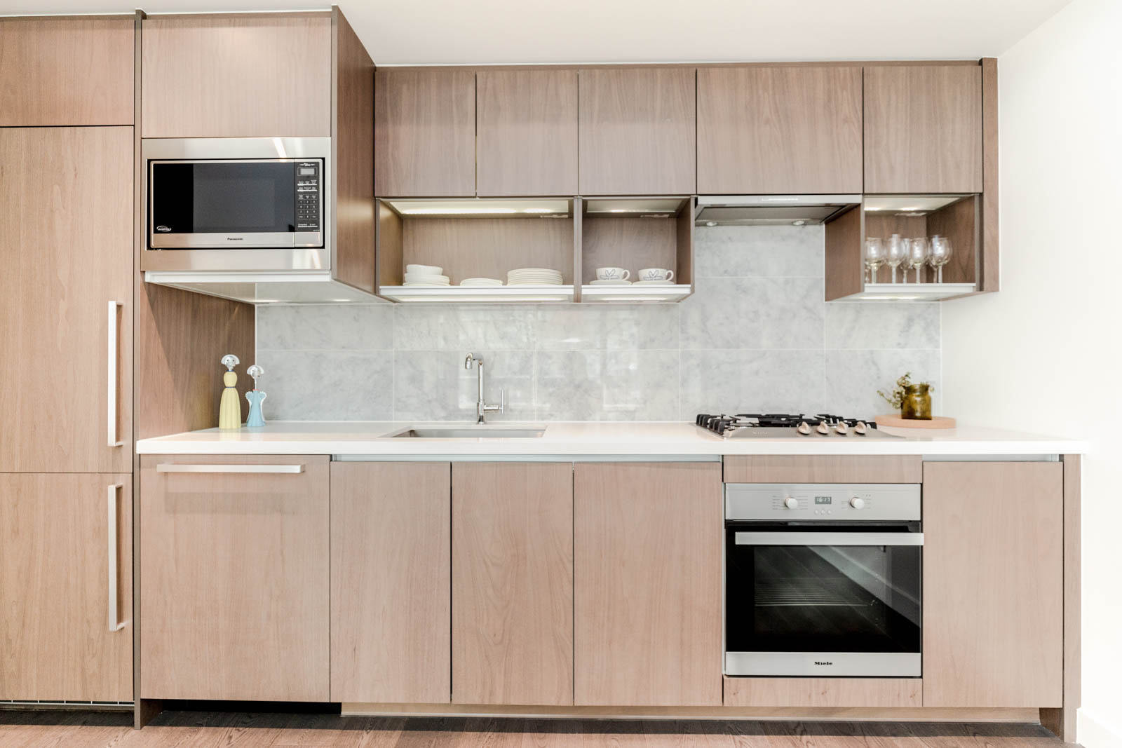 Light Wood Cabinetry at 68 Smithe Vancouver Rental Home