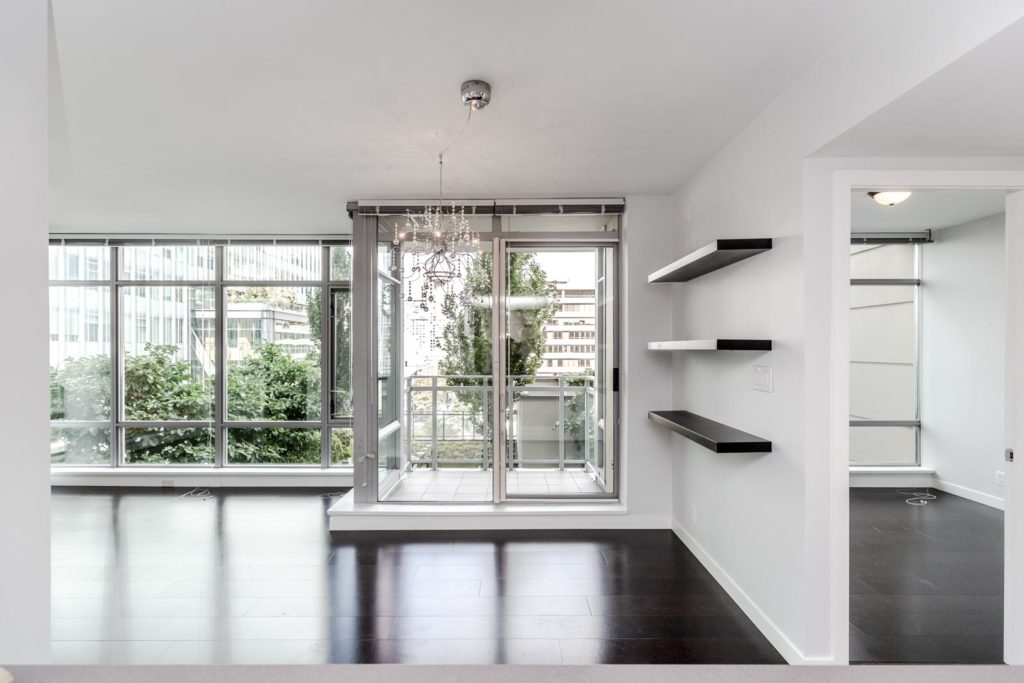 Dark Hardwood inside L'Hermitage Condo For Rent