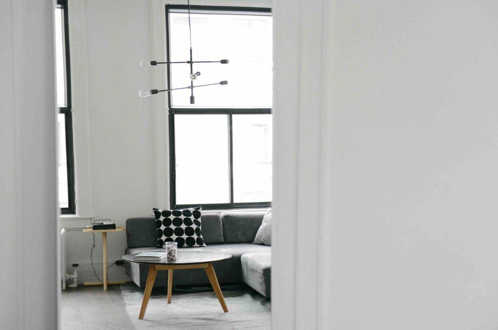 trendy Scandinavian style living room