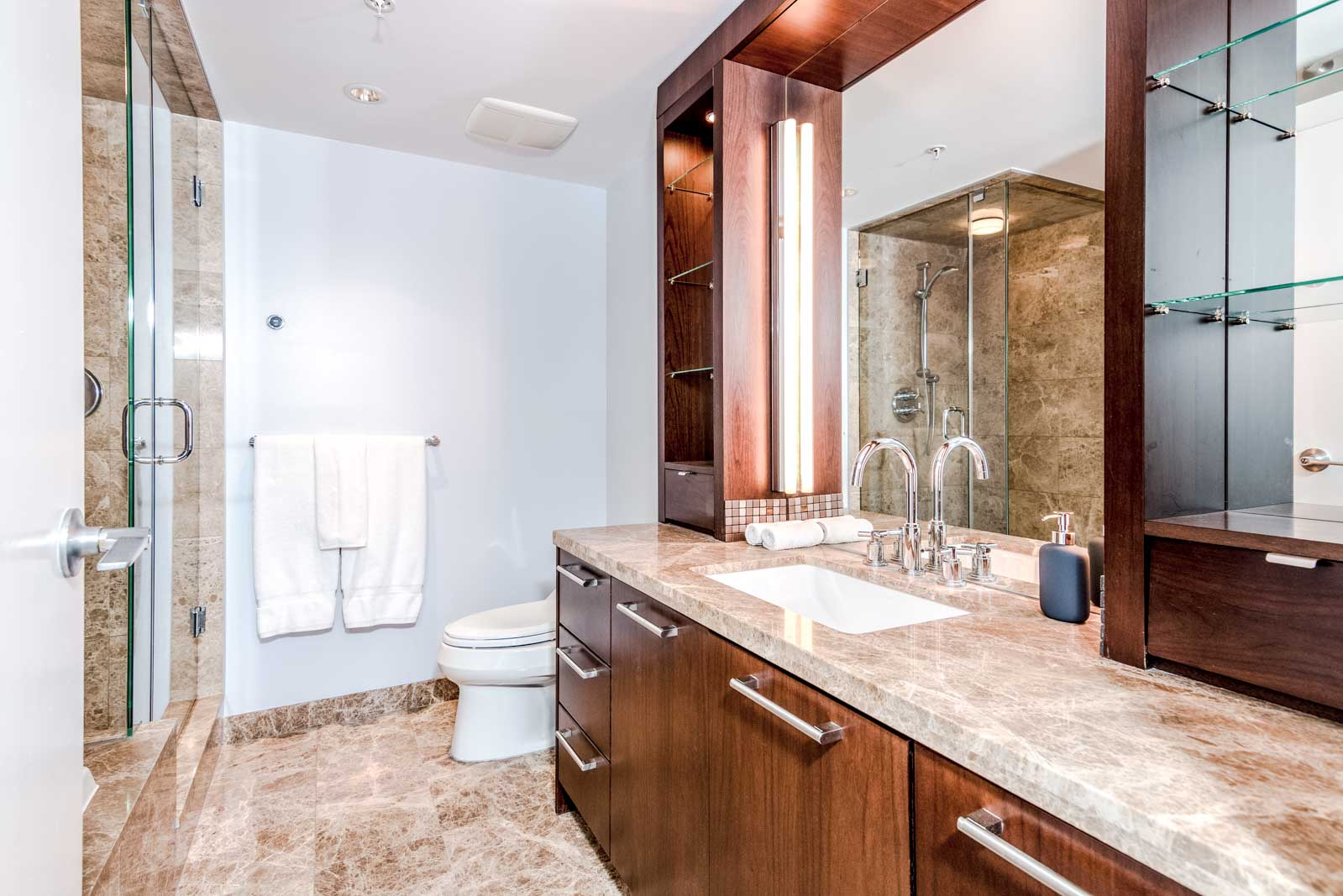 Bathroom in Olympic Village Condo Listed By Birds Nest Properties Properties Rental Management