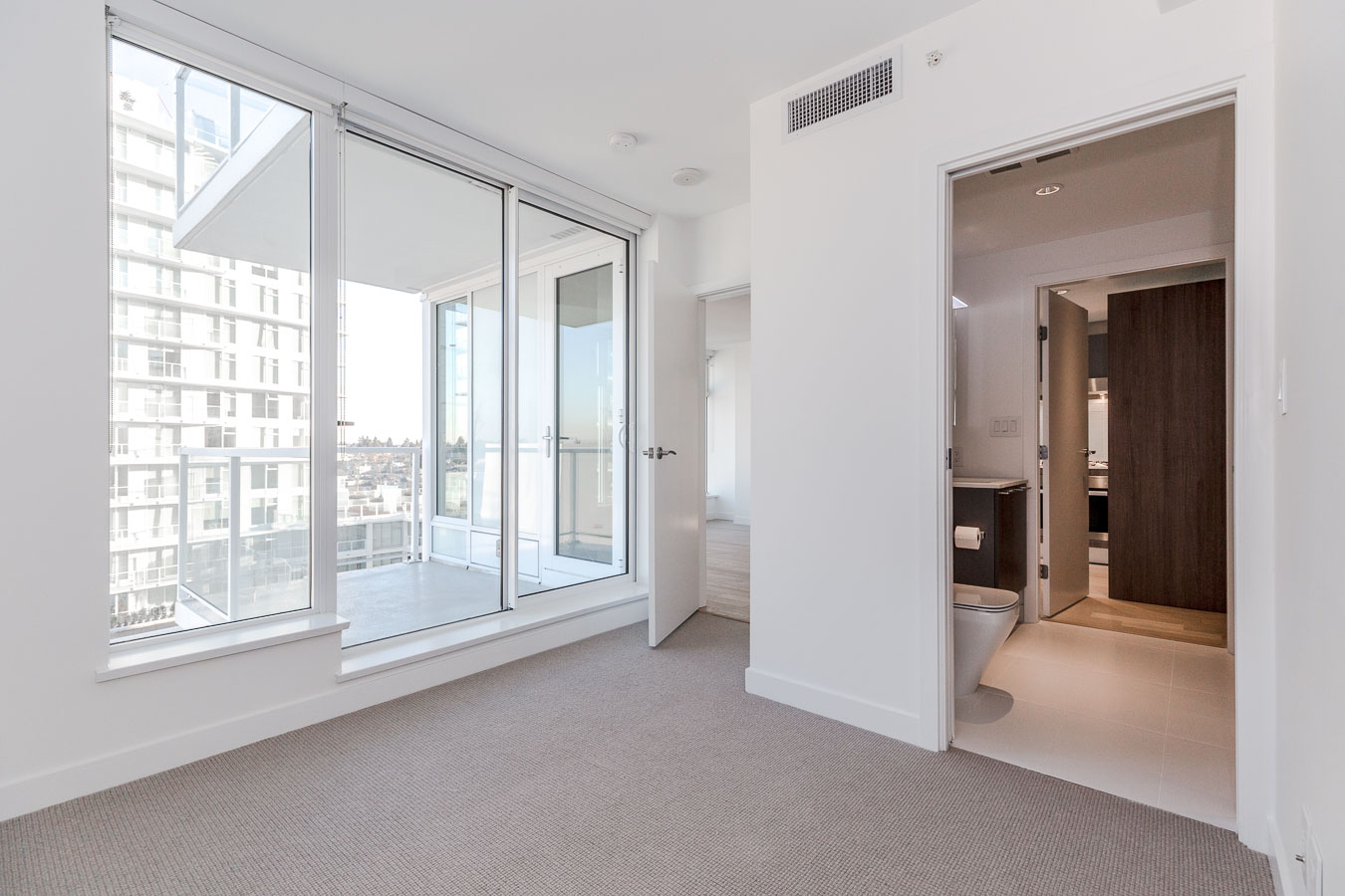 Interior of luxury Vancouver condo rental with a view.