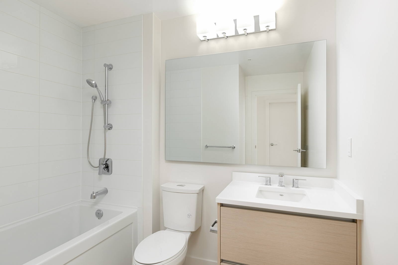 Newly finished bathroom at Burnaby Mountain rental condo.