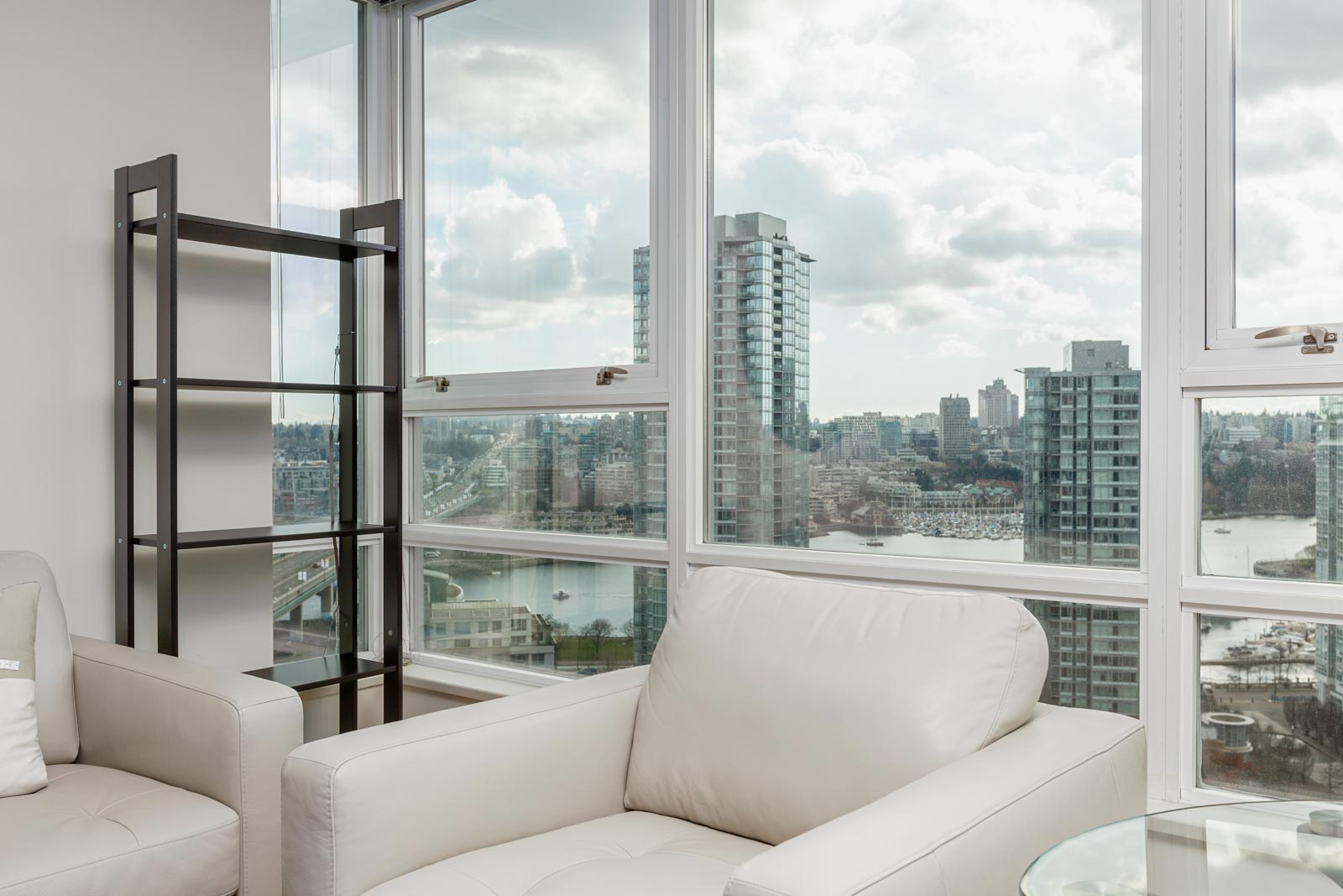 View from living room of Downtown Vancouver rental condo.