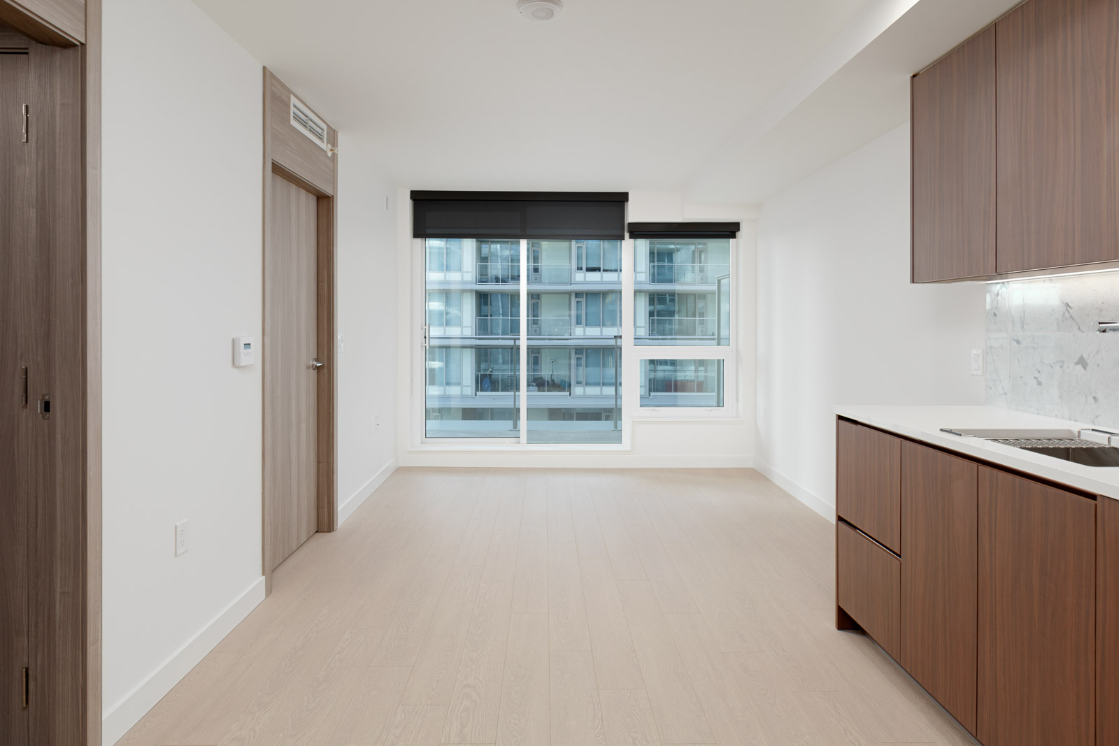 Newly renovated dining area in Vancouver luxury rental condo.