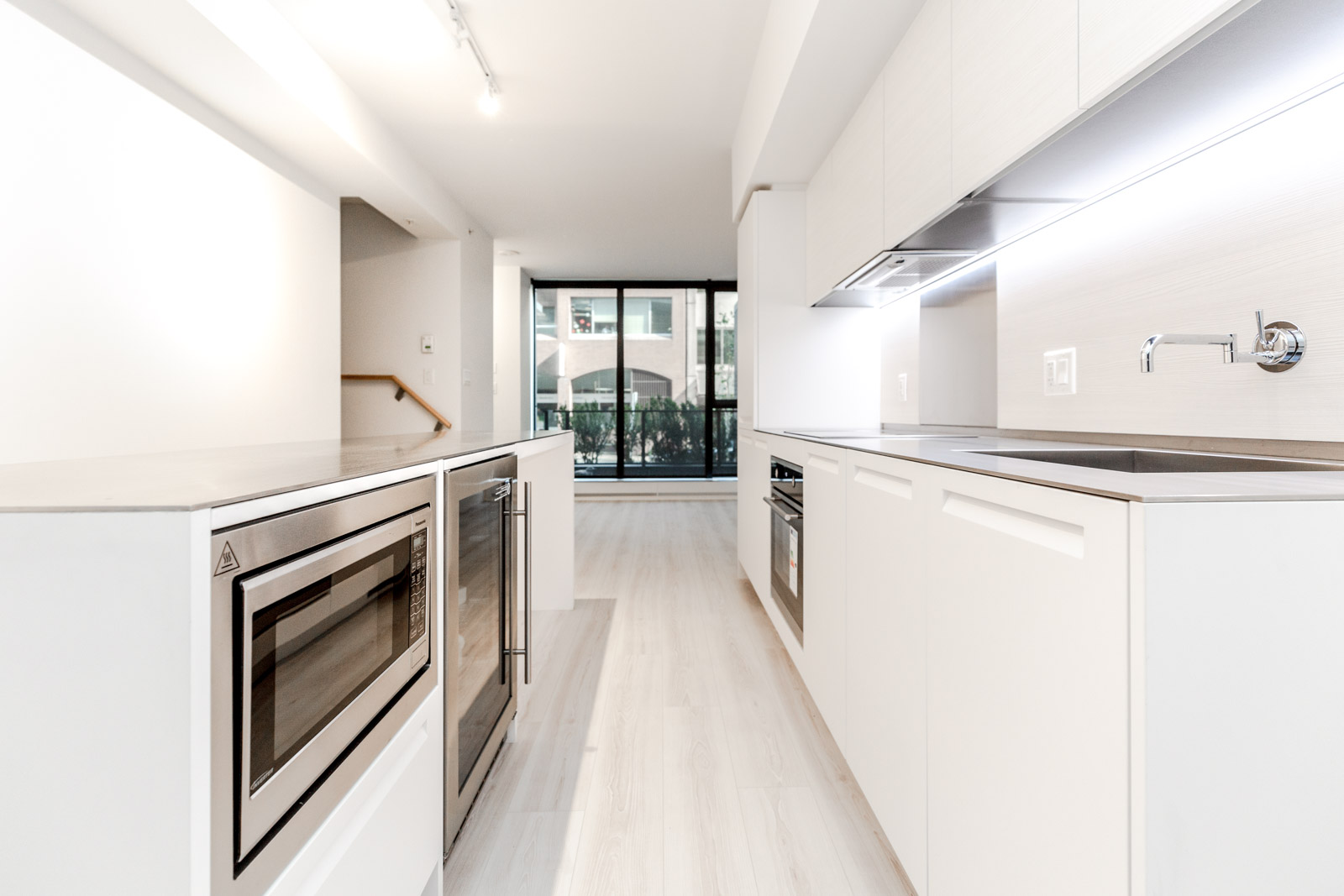 Newly renovated kitchen in Downtown Vancouver rental condo.