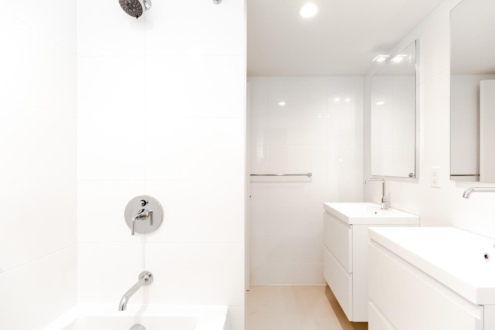 Bathroom in Downtown Vancouver luxury rental condo.