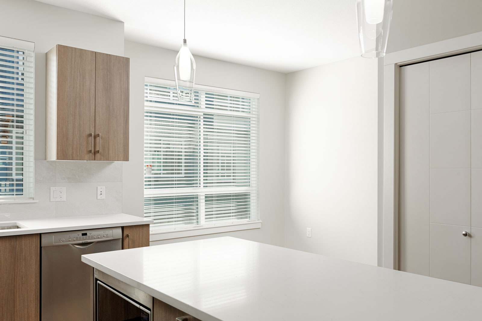 Kitchen area in Richmond luxury rental townhome.