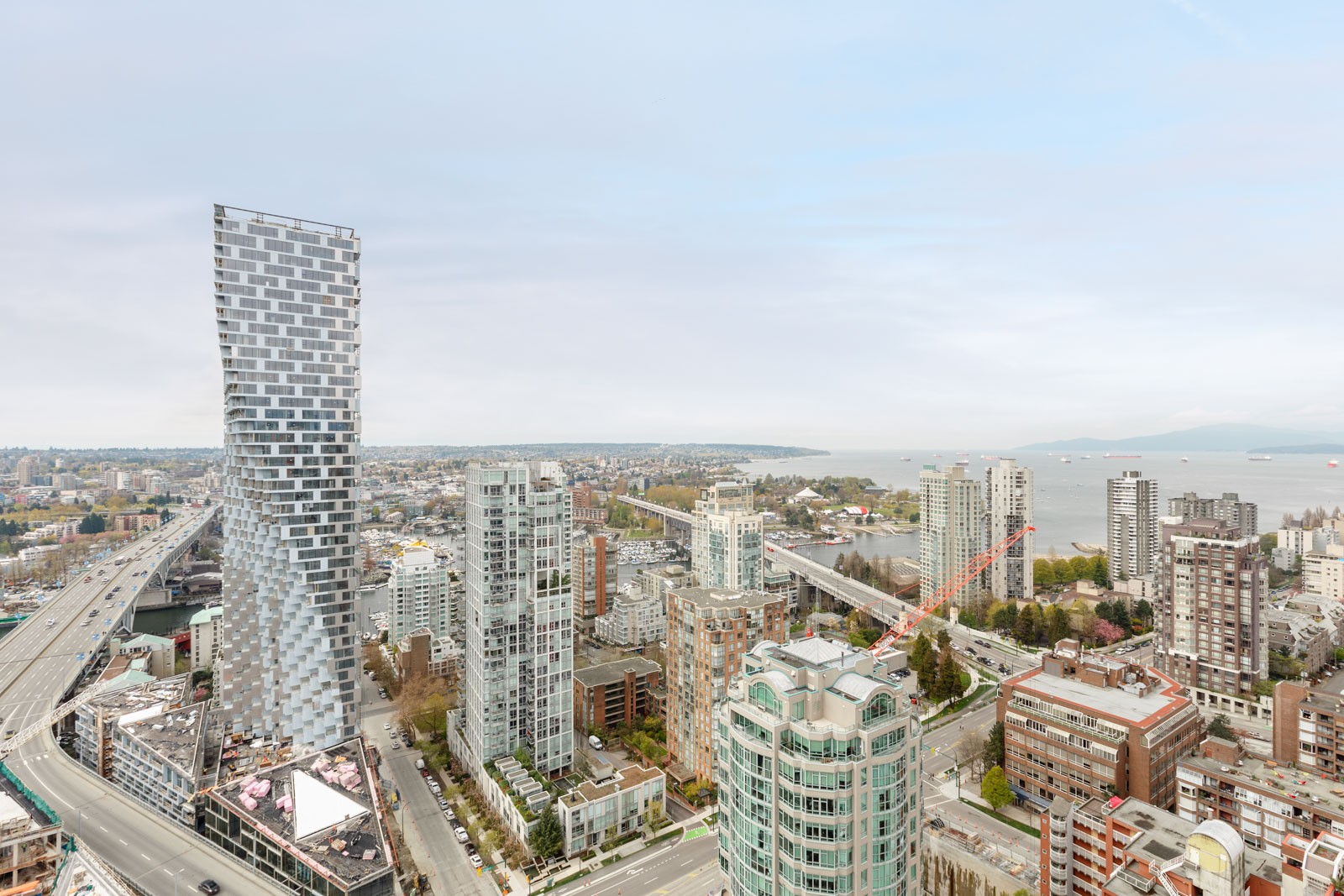 View of the city from Vancouver rental condo.