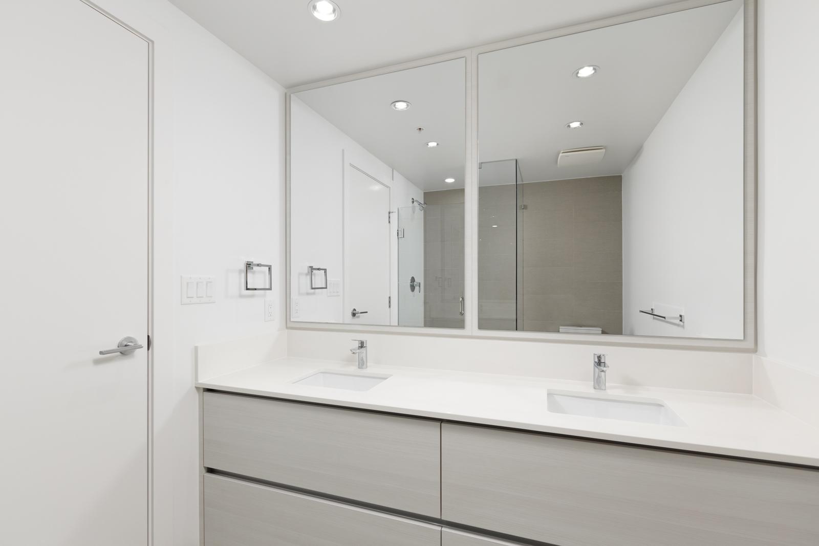 Bathroom at Metrotown condo