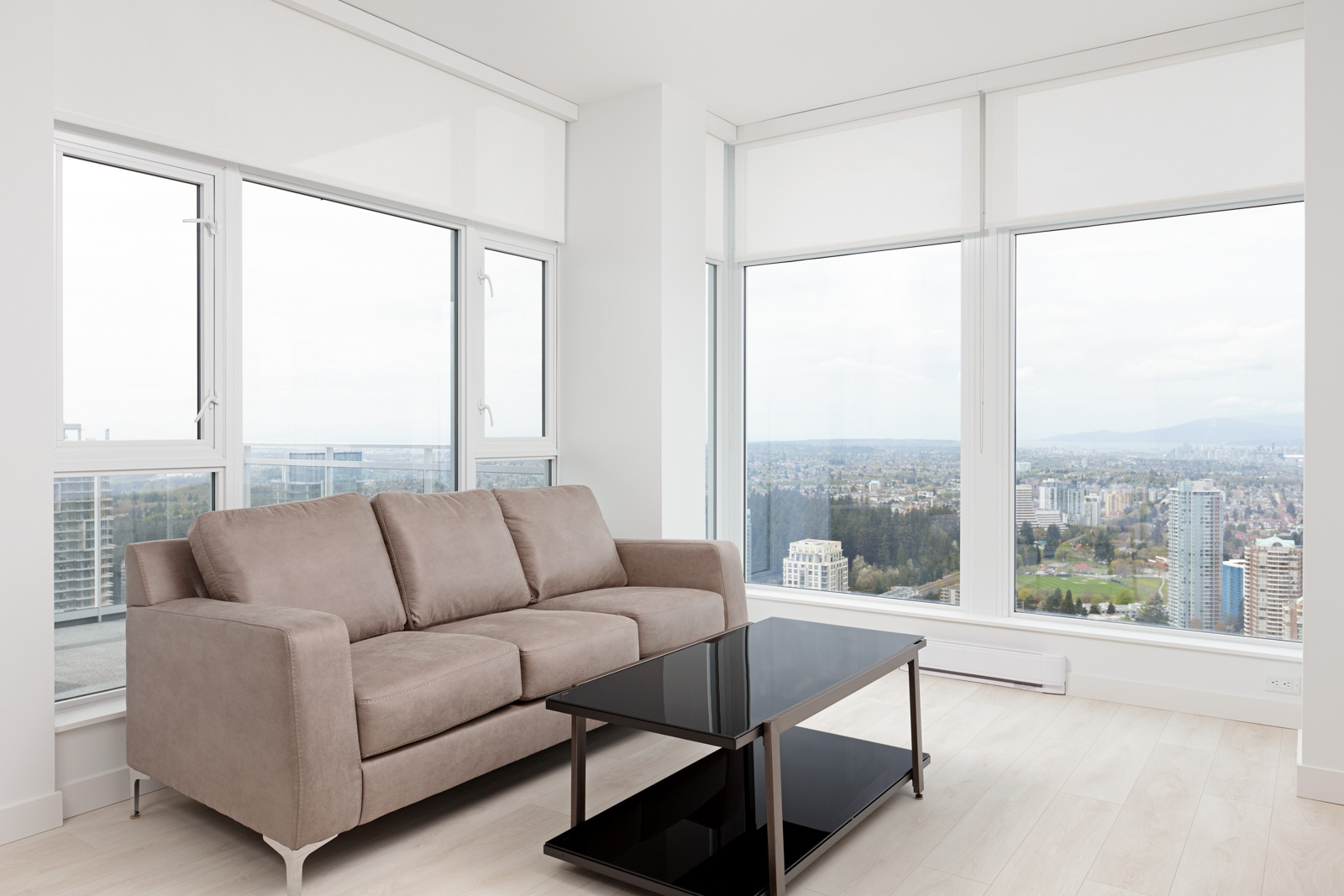 Living room in Metrotown condo