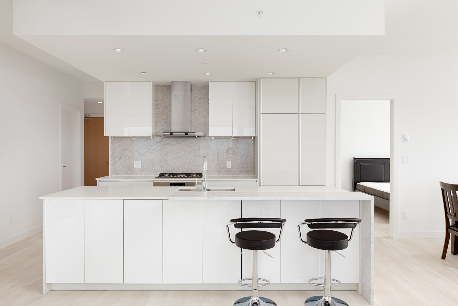 White cabinets in Metrotown kitchen