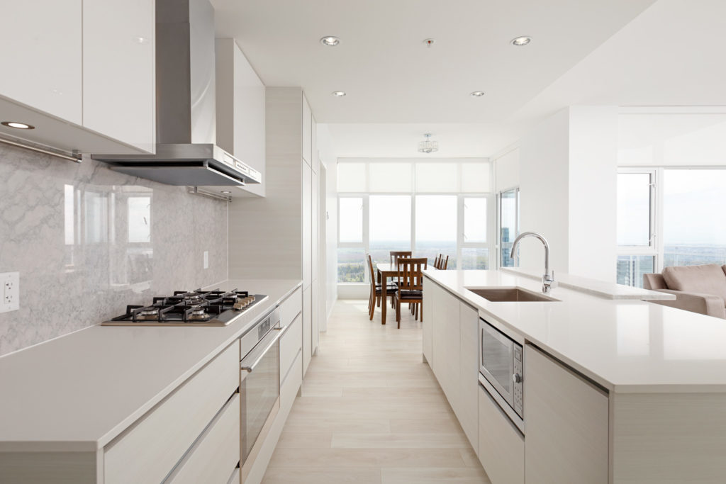 Bright and airy kitchen at Metrotown condo