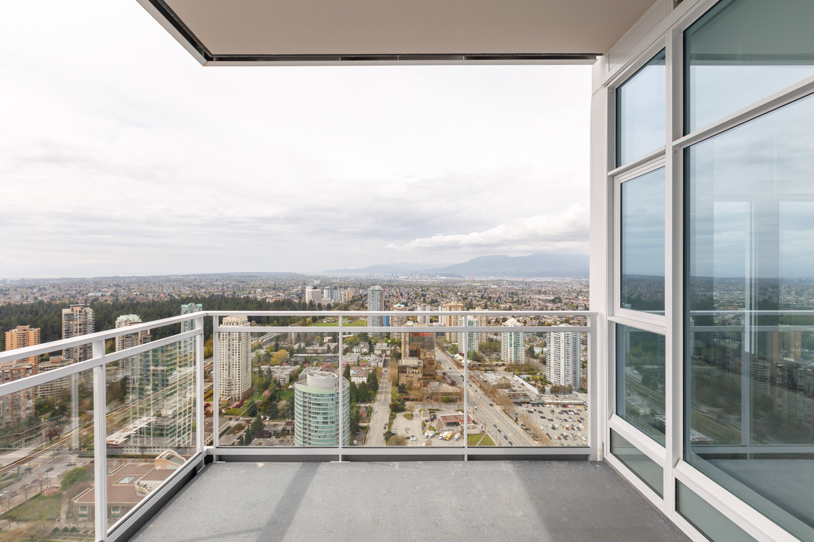 View from balcony at Metrotown condo