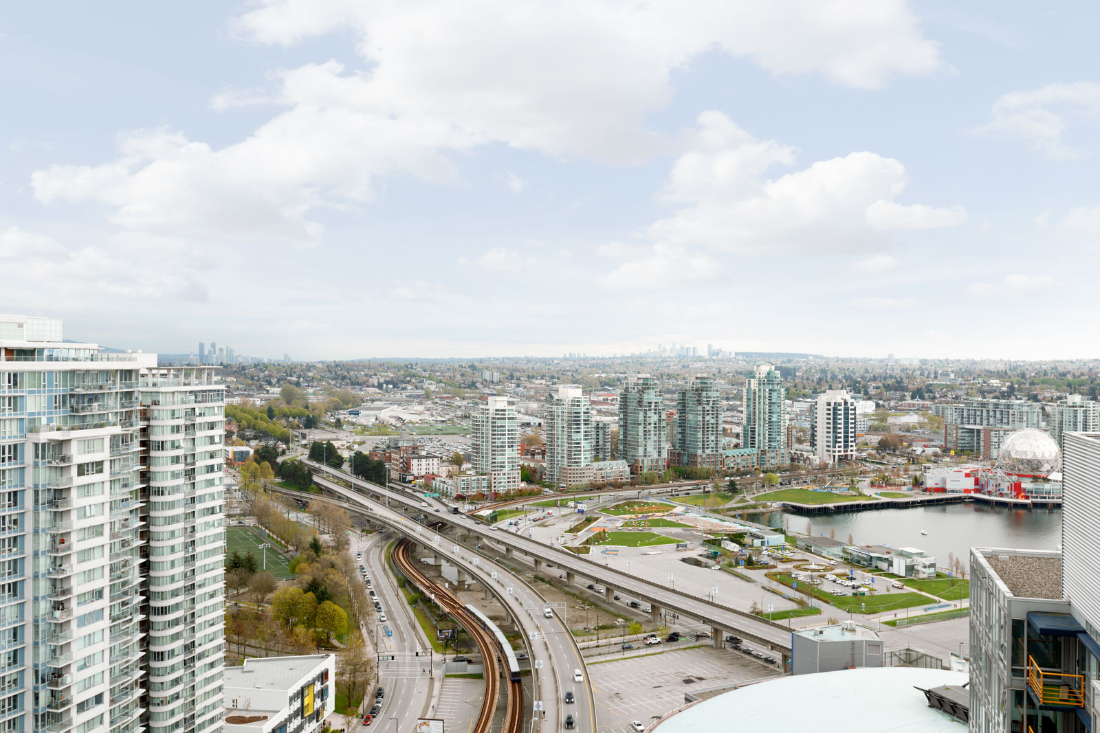 View of the city from Downtown Vancouver rental condo.