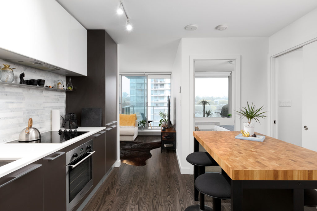 brand new kitchen in Marpole condo