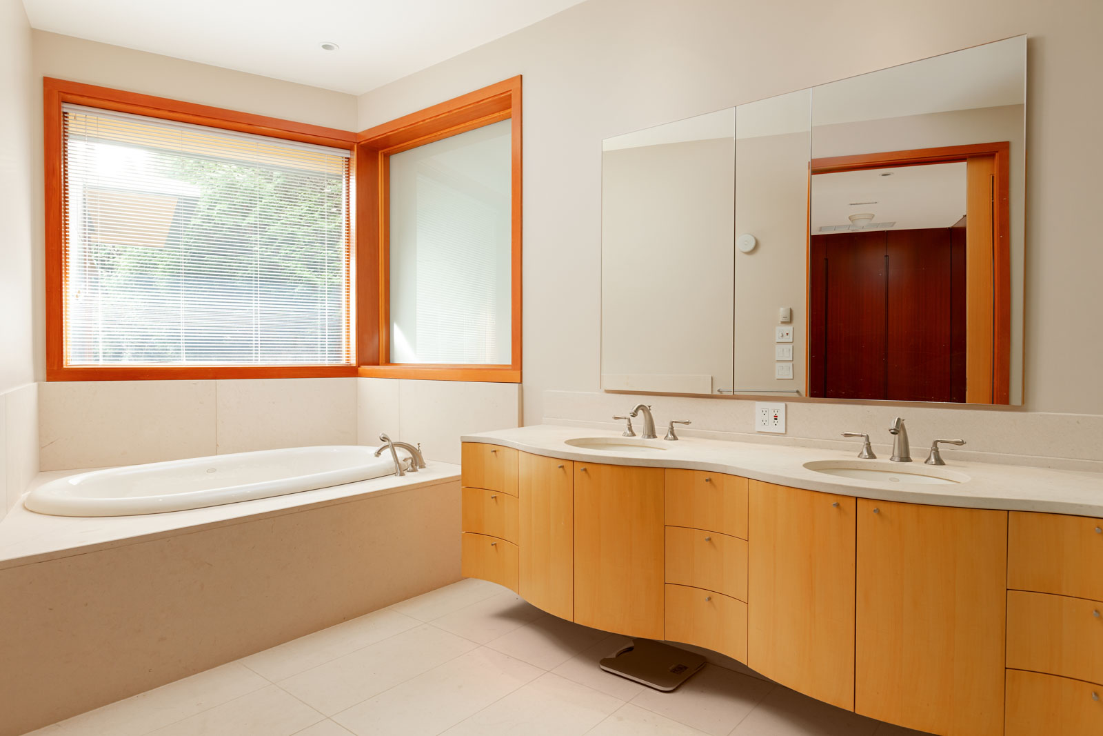 Bathroom inside West Vancouver luxury rental home.
