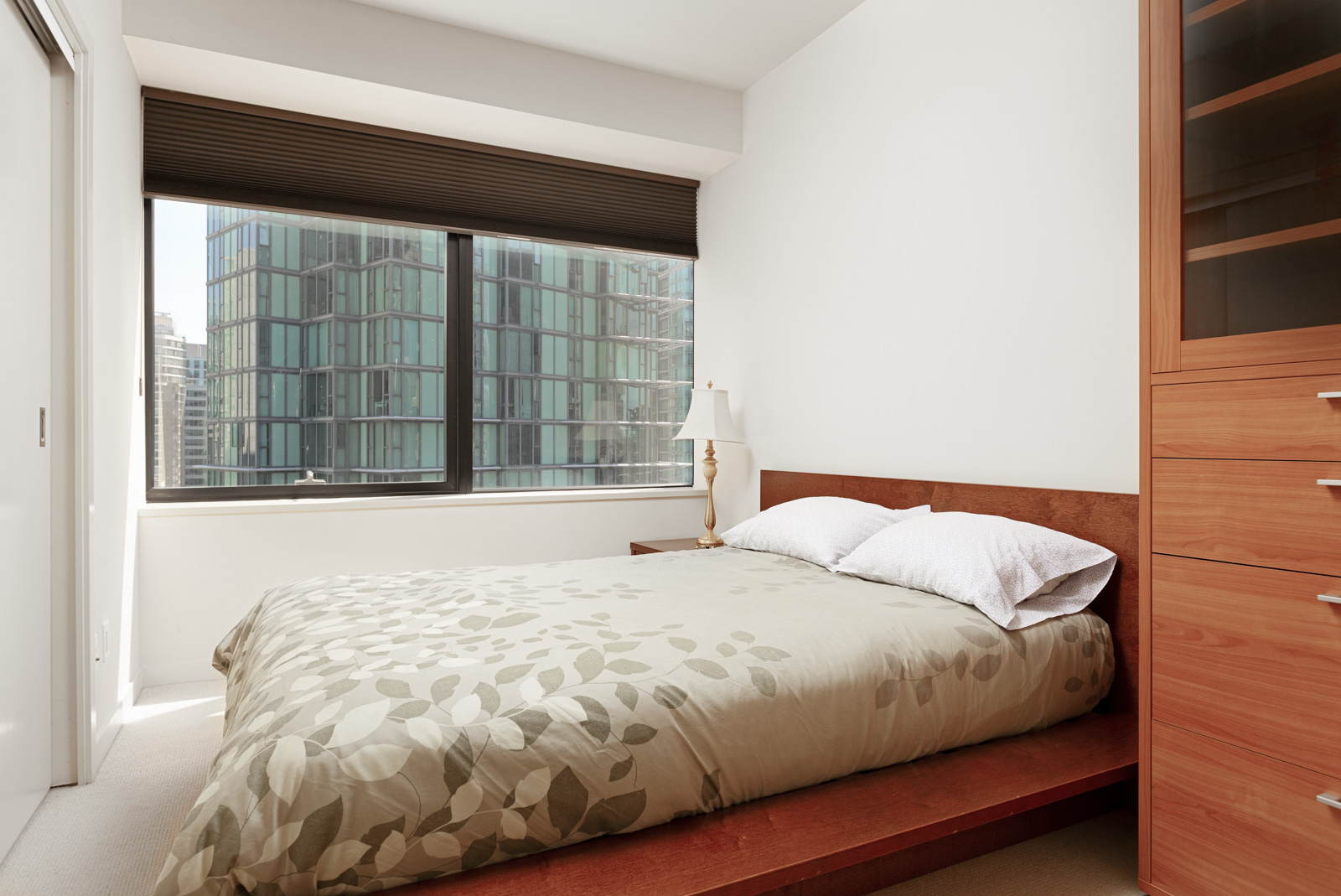 Coal Harbour bedroom with view