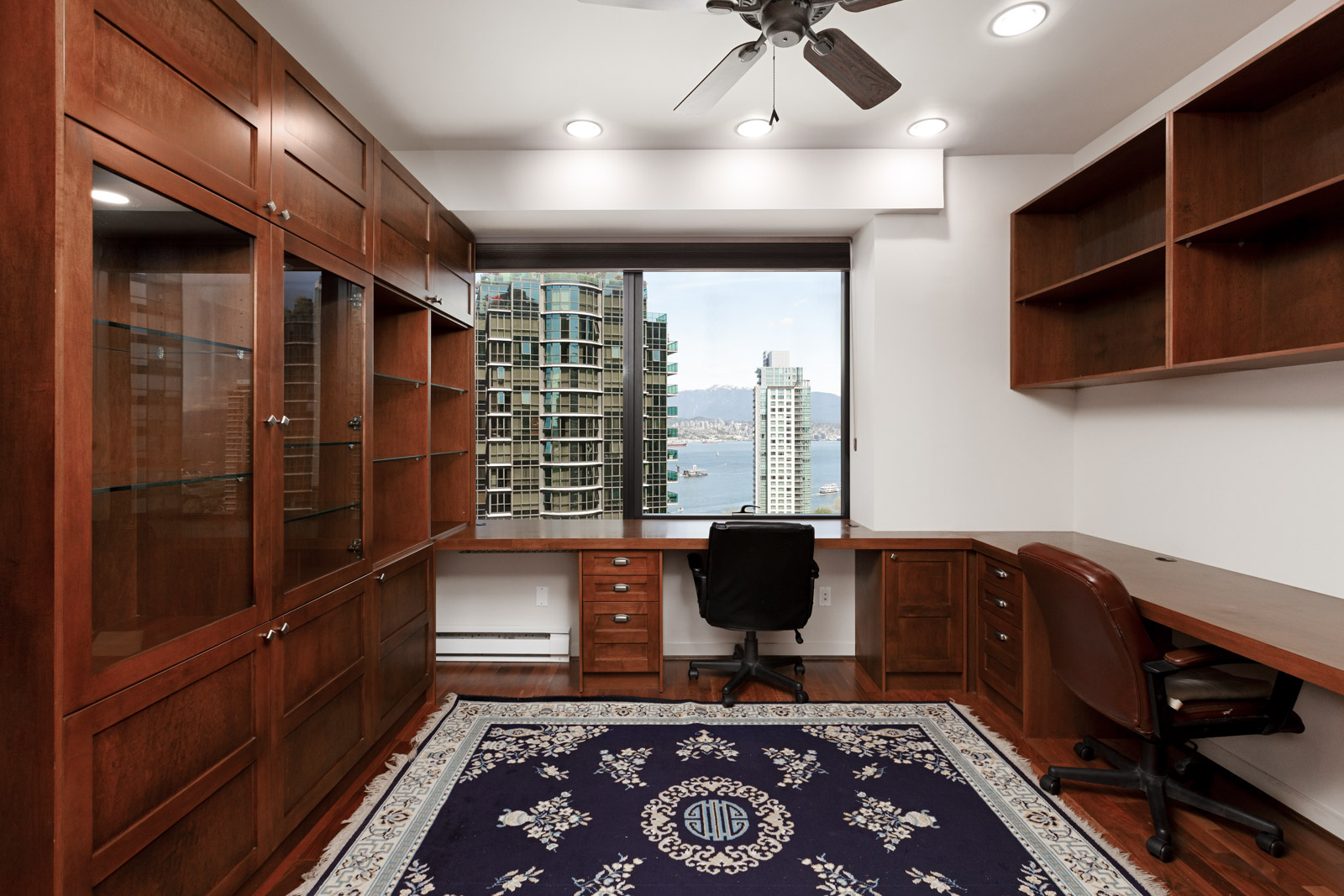 Home office with view in Coal Harbour