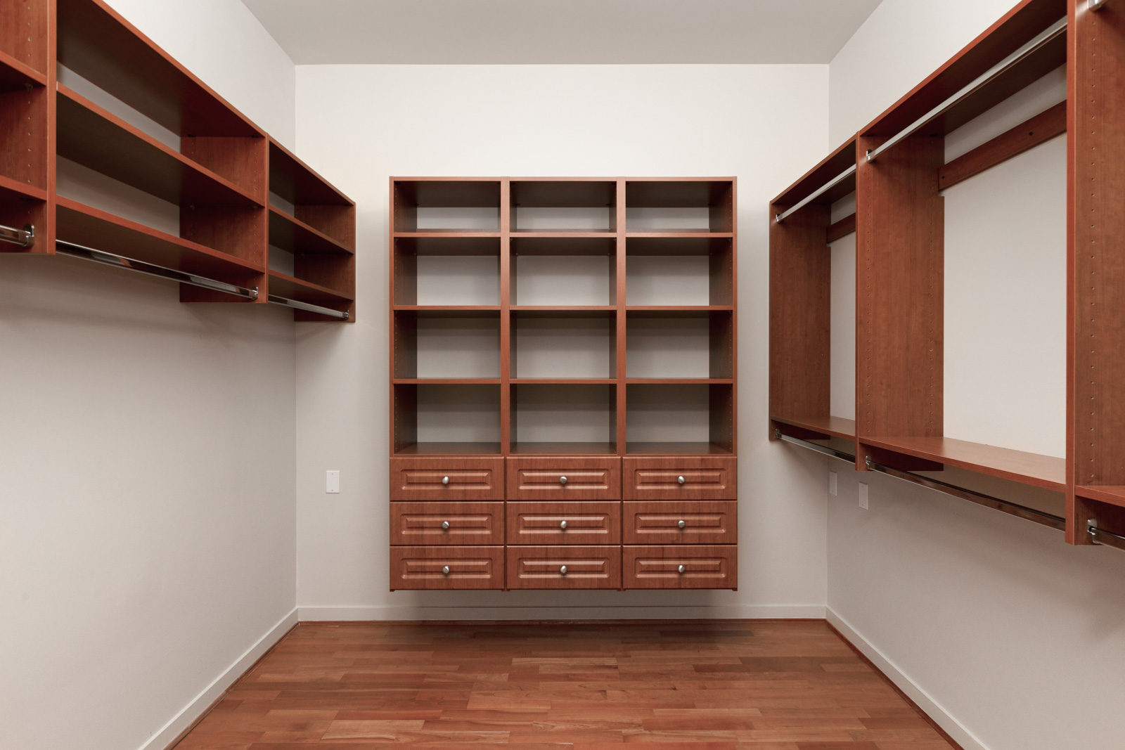 Custom closet cabinetry in Coal Harbour condo