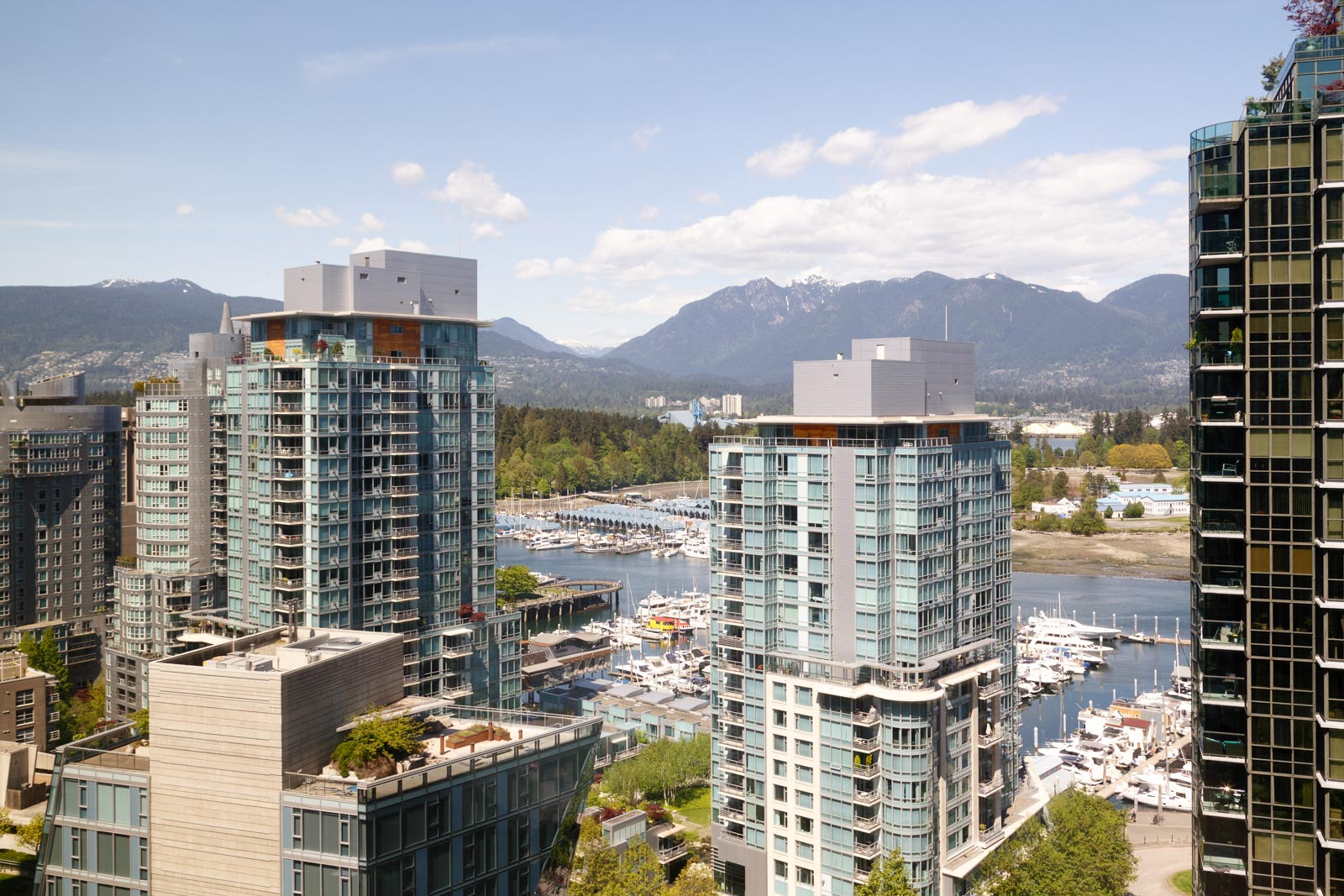 Waterfront view from Coal Harbour condo