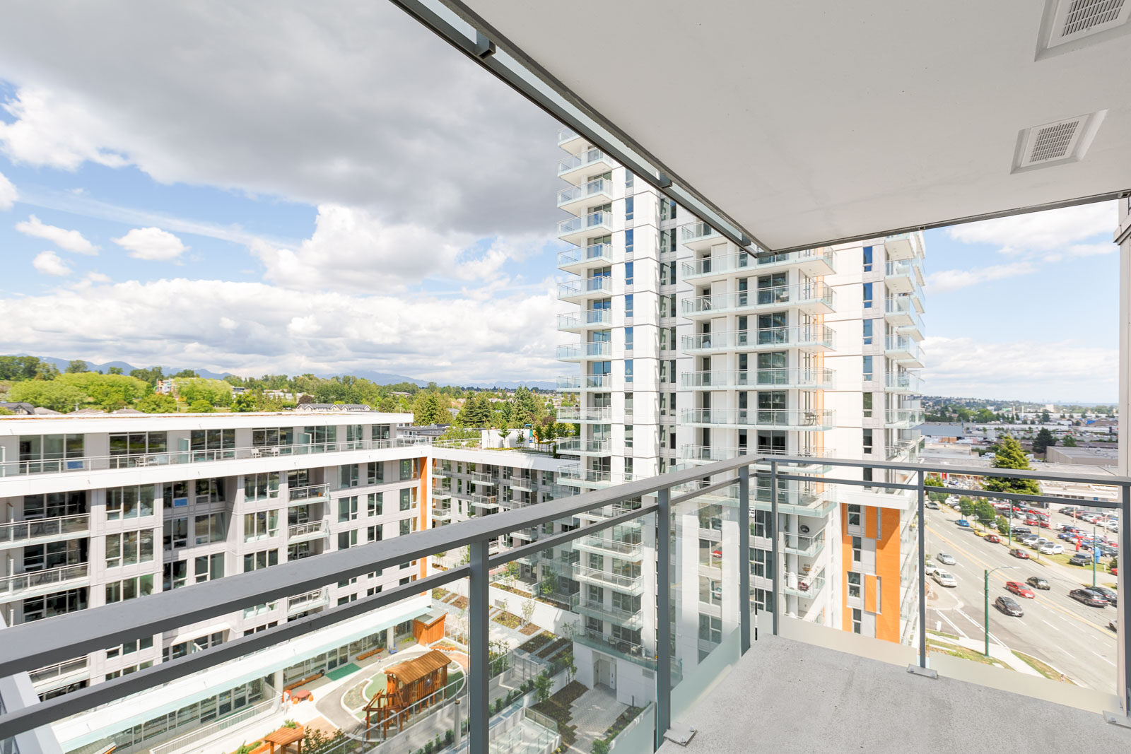 View from Balcony at Condo at Marine and Cambie