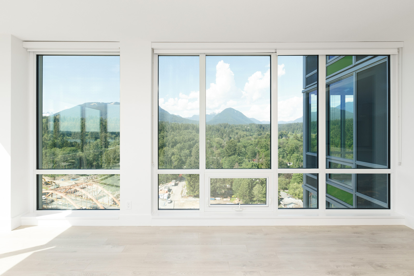 Living area in North Vancouver luxury rental with view.
