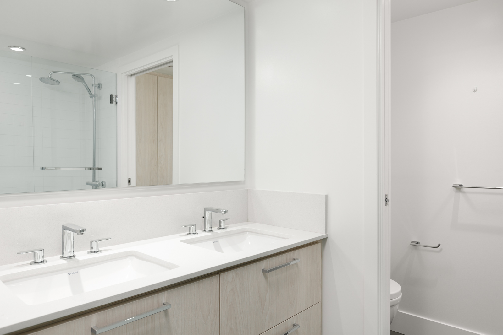 Newly renovated bathroom in North Vancouver luxury rental.