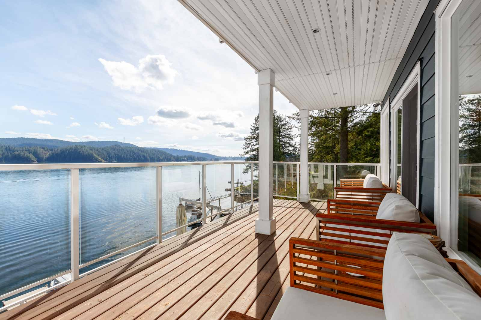 Waterfront views from North Vancouver rental home.