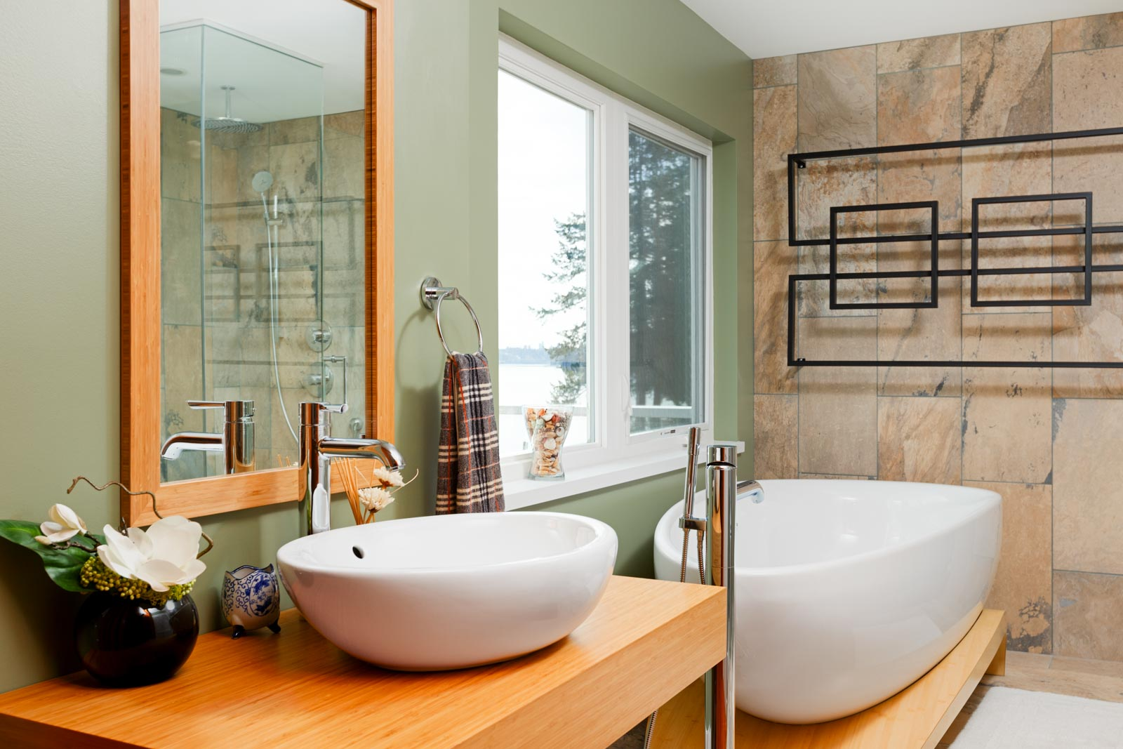 Bathroom inside North Vancouver luxury rental home.