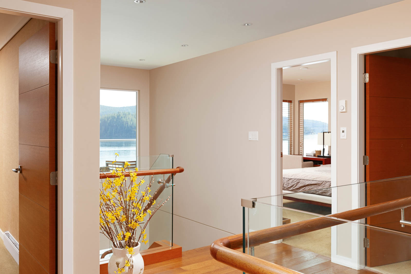 Upper floor landing of North Vancouver luxury rental.