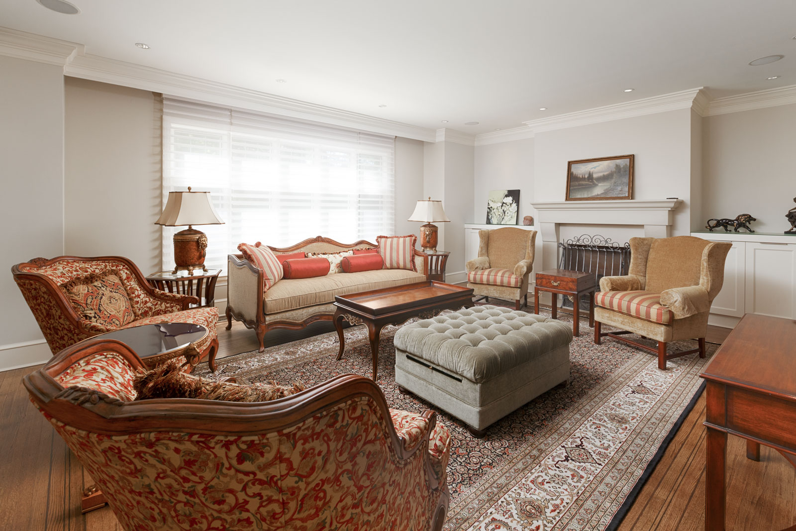 Living room with numerous couches inside Vancouver luxury rental.