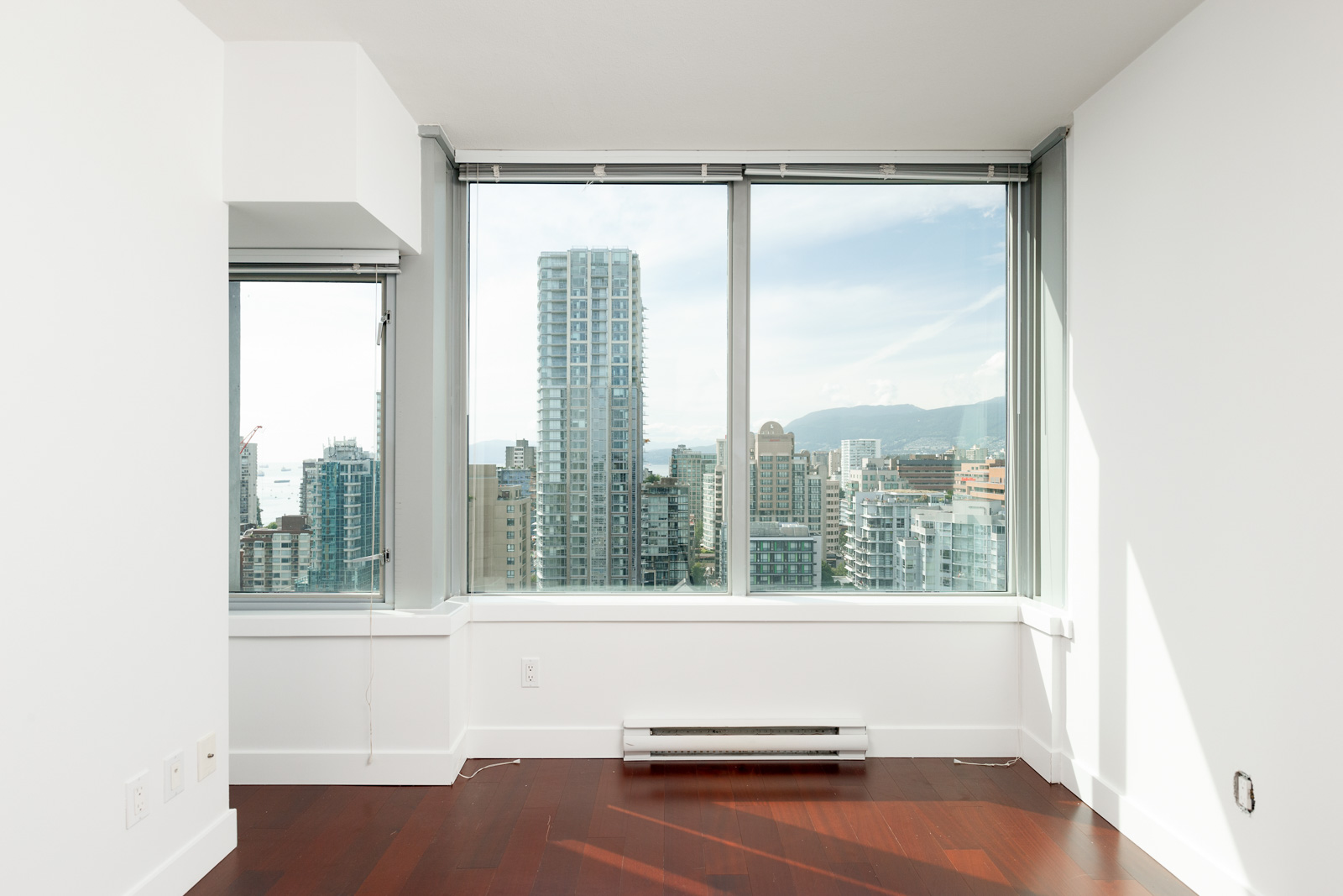 View of Downtown Vancouver from condo at 1255 Seymour St