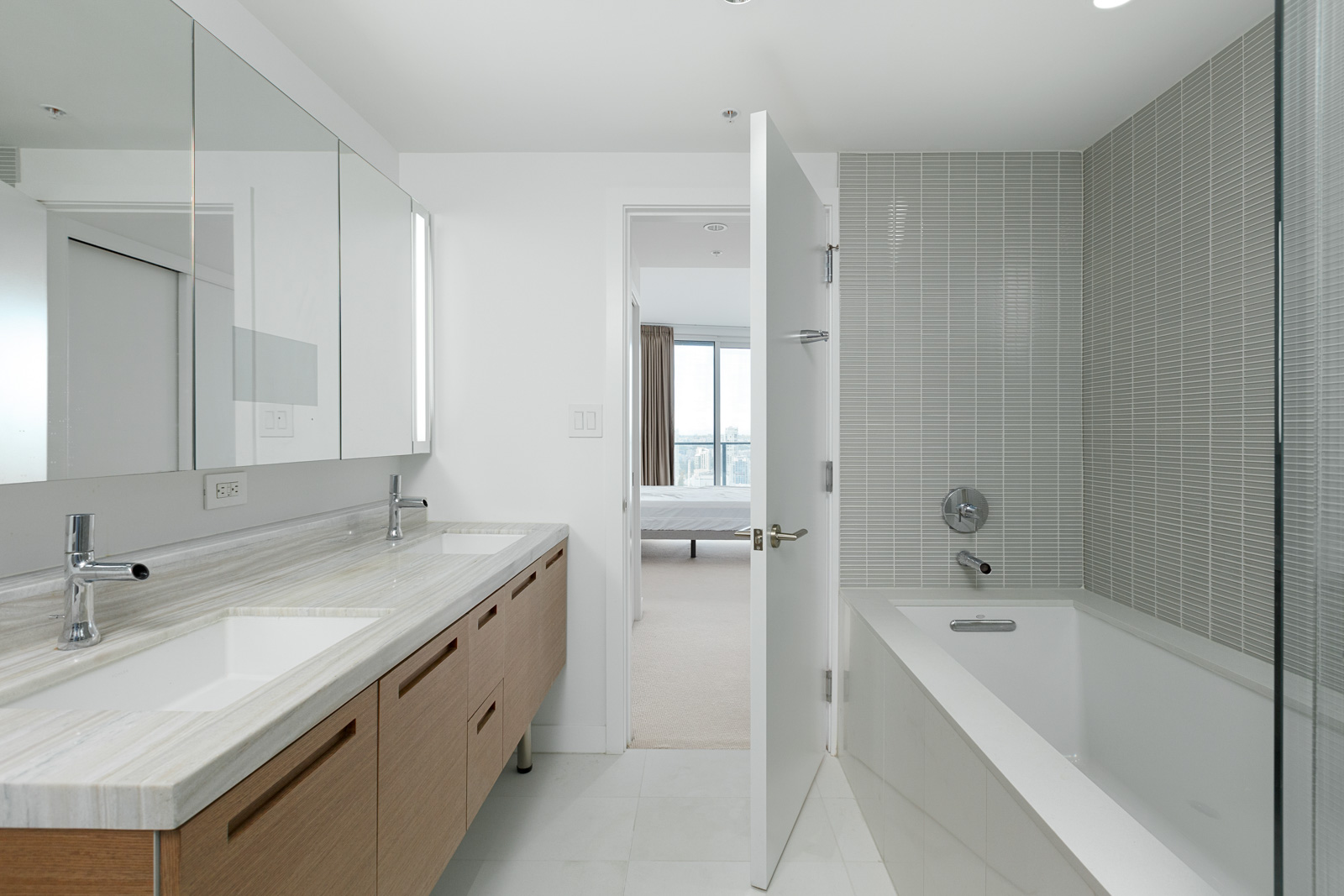 Bathroom in Downtown Vancouver luxury rental condo.