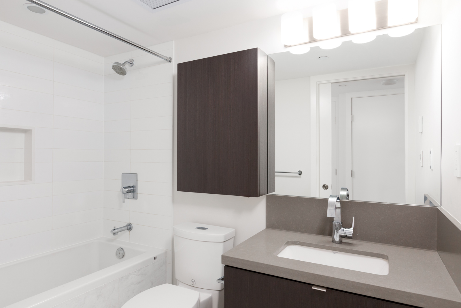 Bathroom of luxury Vancouver rental condo.