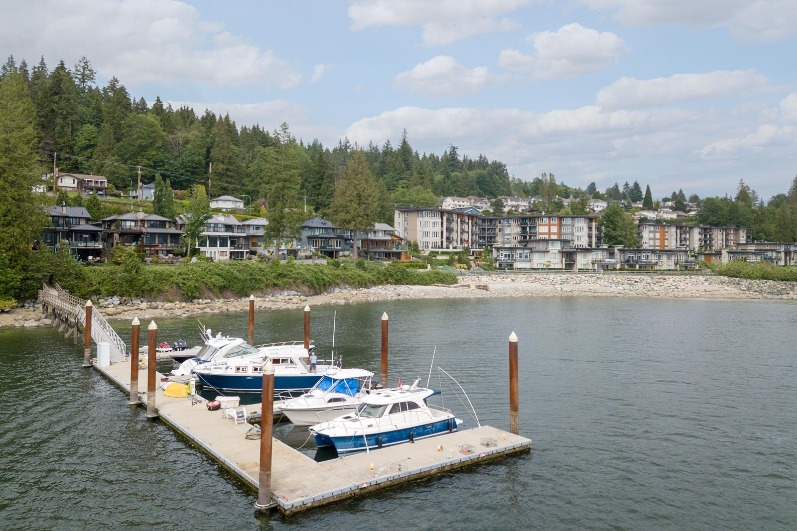 Private dock situated by North Vancouver luxury rental home.