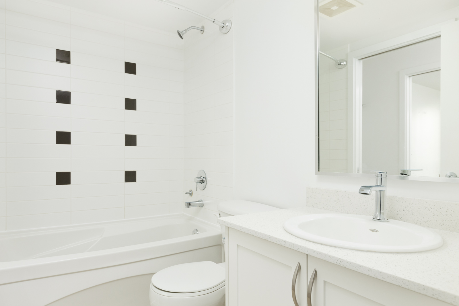 Bathroom inside Downtown Vancouver rental condo.