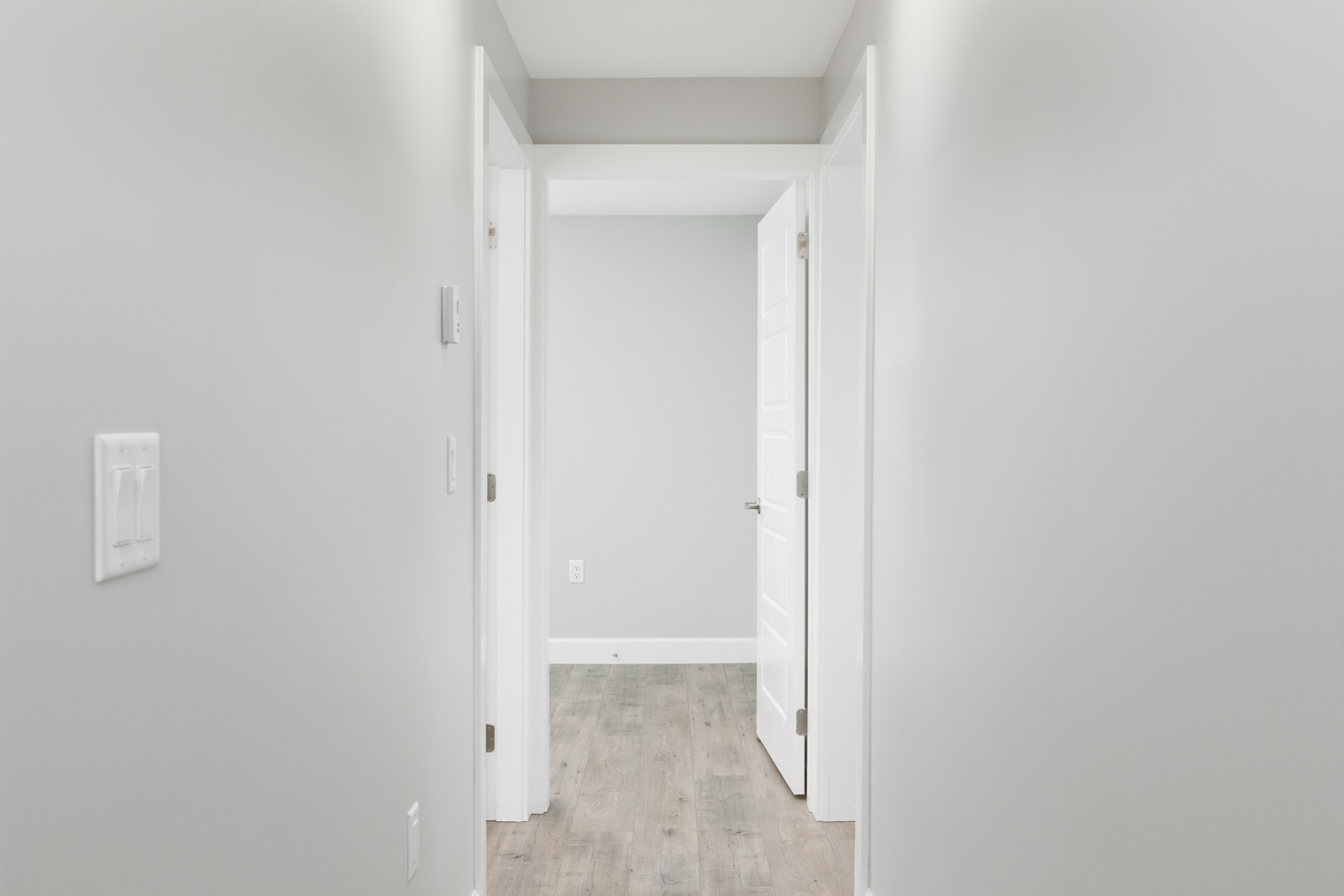 Interior hallway of Vancouver unfurnished rental housing listed by Birds Nest Properties.