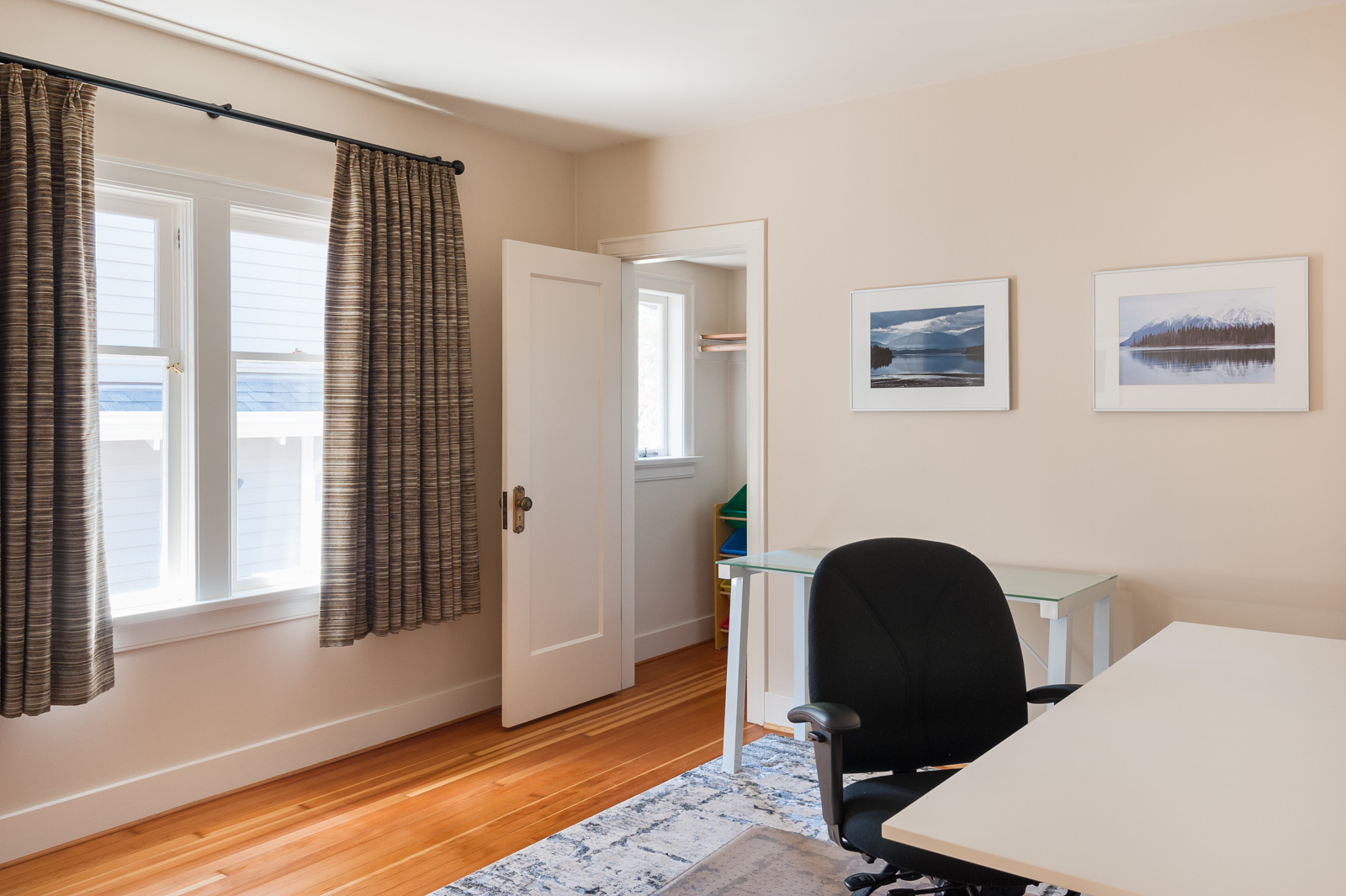 Entrance into study of Westside Vancouver rental listed by Birds Nest Properties.