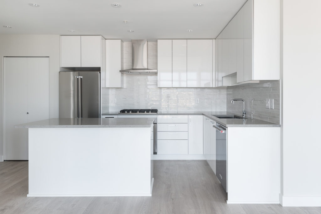 Luxury kitchen in Burnaby condo for rent