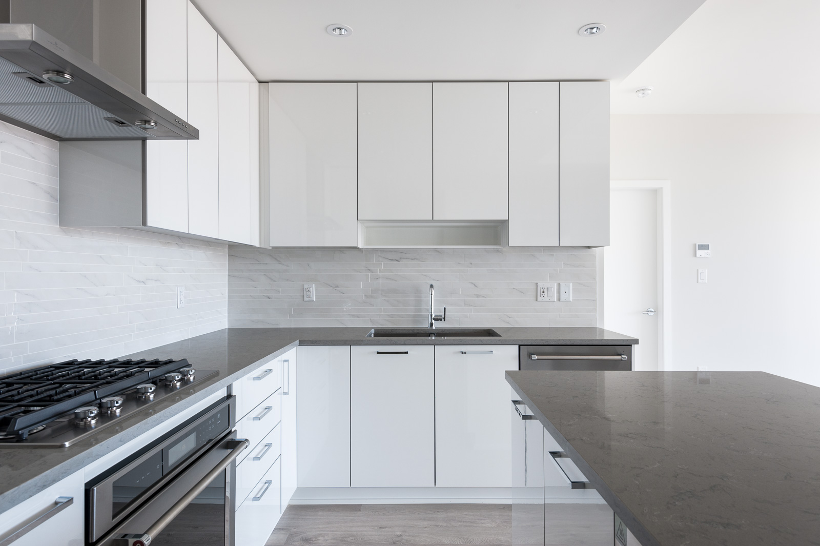 White cabinetry in Burnaby rental home