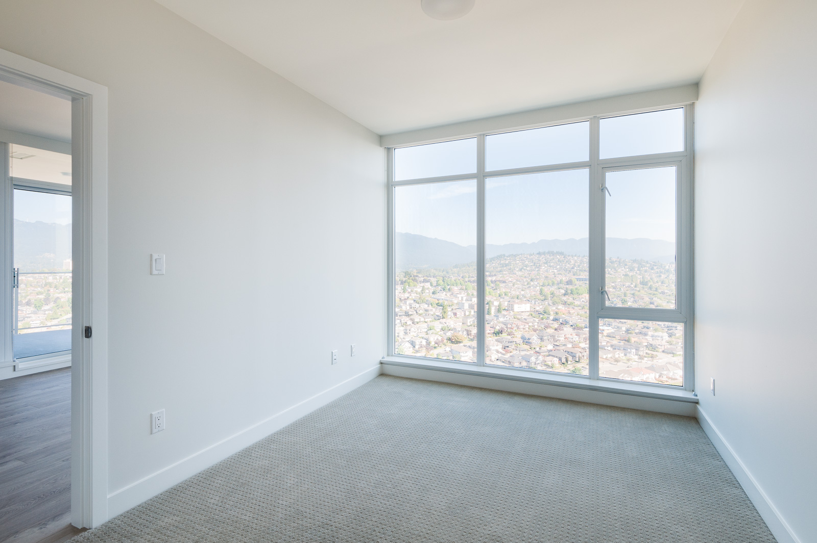 Bedroom in Brentwood condo featuring view
