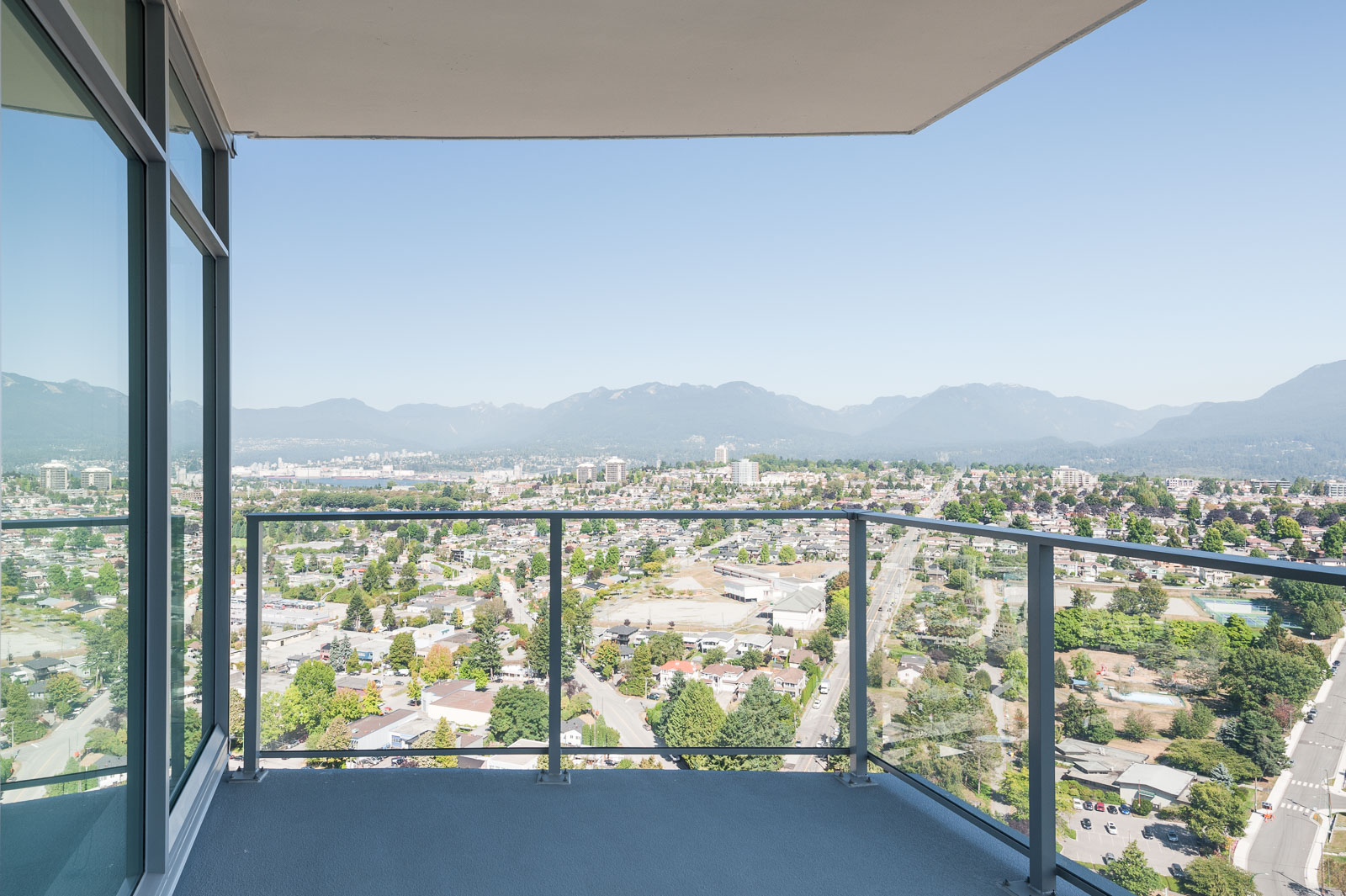 View from the balcony in Brentwood rental home by Birds Nest Properties