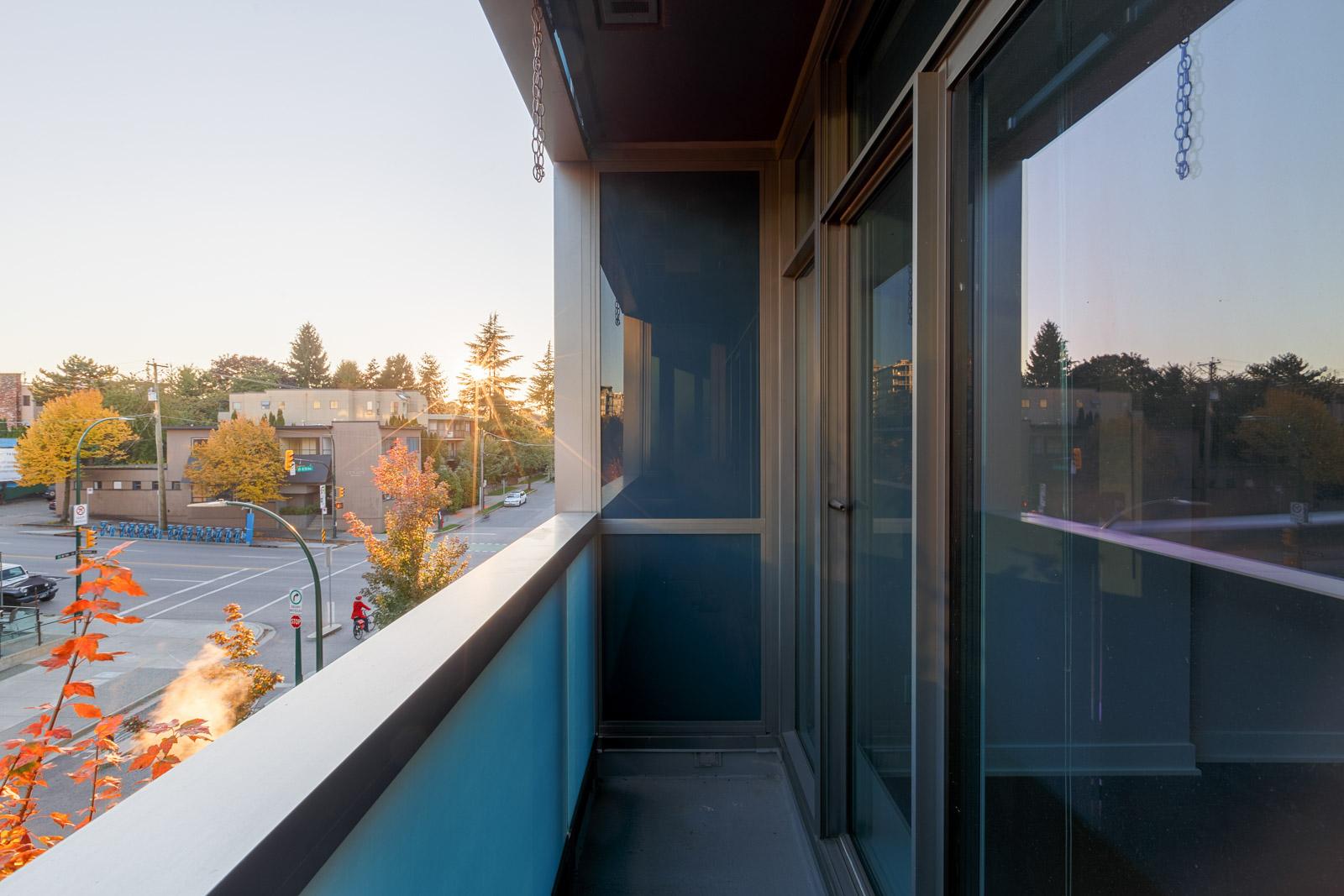 Balcony in Kits360 condo managed by Birds Nest Properties