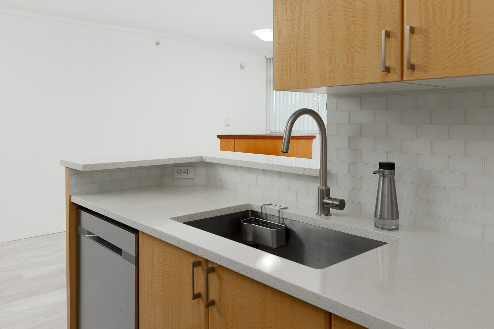Kitchen sink in Vancouver unfurnished rental condo property