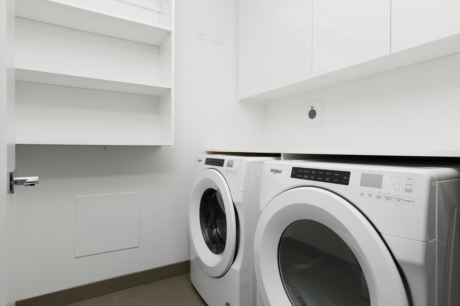 Washer dryer in rental property in The Kirkland building in Kerrisdale Vancouver