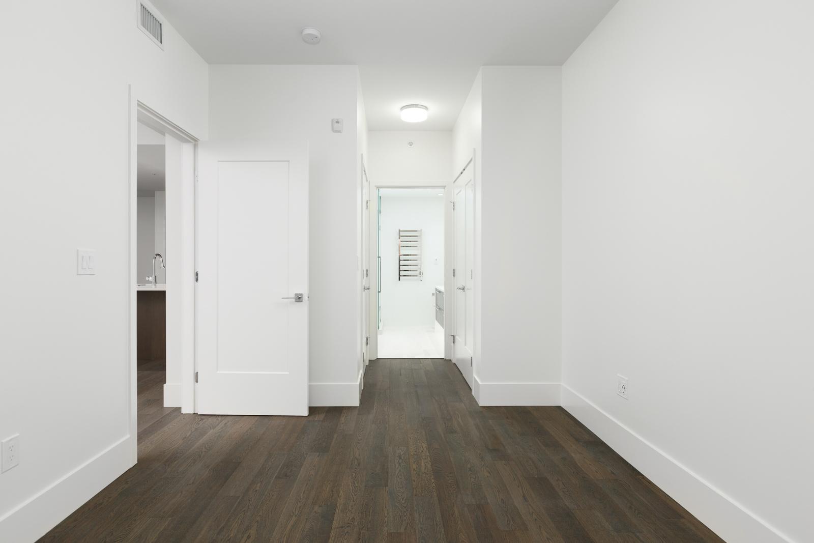 Hallway in rental property in The Kirkland building in Kerrisdale Vancouver