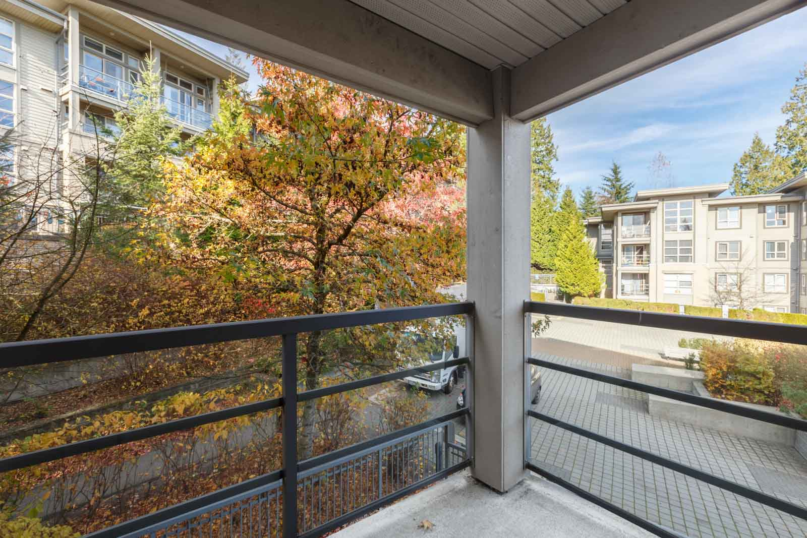 patio from burnaby condo on university crescent at sfu