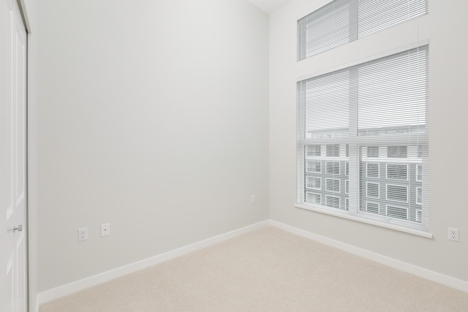 empty bedroom in richmond rental townhouse