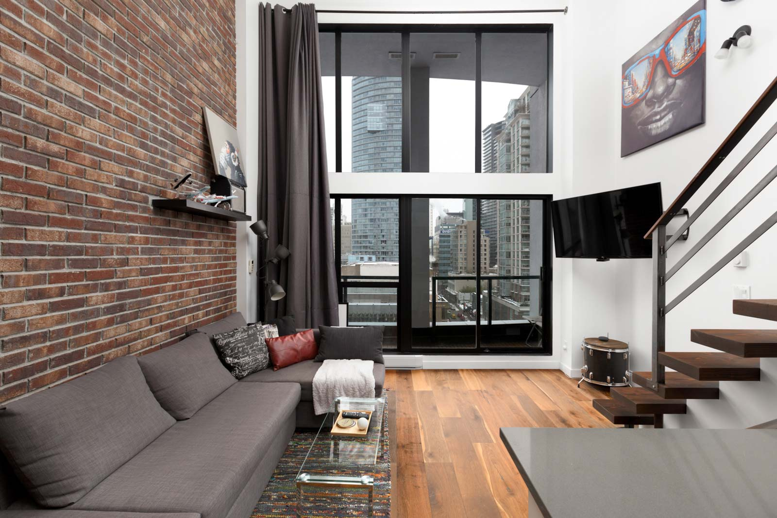 Dowtown Vancouver Loft Living Room